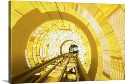 China, Shanghai, The Bund, Sightseeing tunnel