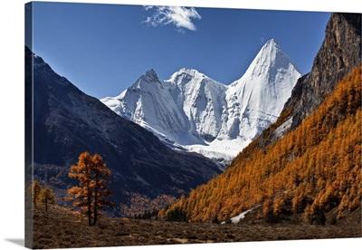 China, Sichuan, Yading Nature Reserve, Yangmaiyong Mountain