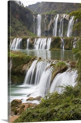 China, Yunnan, Luoping, The Jiulong waterfalls, also known as Nine Dragons