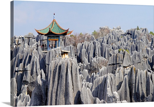 China, Yunnan, Shilin, Limestone pinnacles, Stone Forest ...