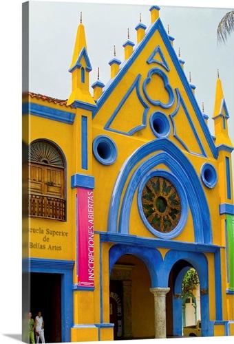 Colombia, Cartagena, Fine Arts Superior School Wall Art, Canvas ...