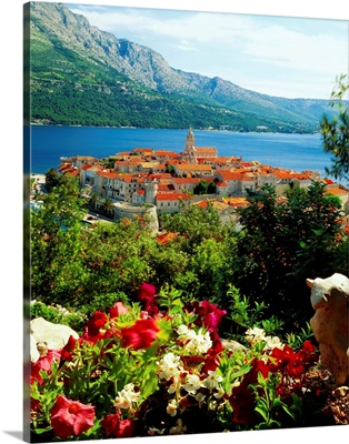 Croatia, Dalmatia, Korcula, view of the town