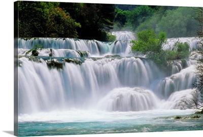 Croatia, Dalmatia, Krka National Park, waterfalls