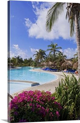 Cuba, Caribbean, Caribs, Cayo Largo, Swimming Pool at Hotel Sol Cayo Largo