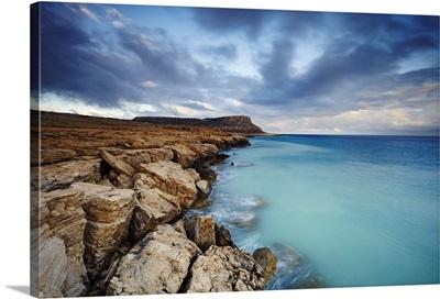 Cyprus, Famagusta, Ayia Napa, Cliff-lined coast on Cape Greco