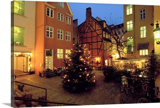Denmark Copenhagen Courtyard Located In Pistolstraede Wall Art - Where is copenhagen located