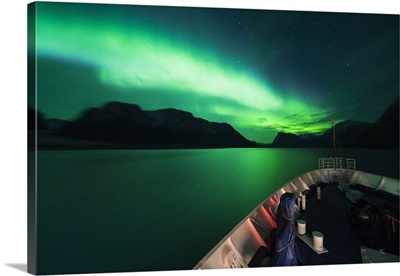 Denmark, Greenland, Qeqqata, Kangerlussuaq, Northern lights, Aurora Borealis