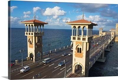 Egypt, North Coast, Alexandria, Stanely bridge