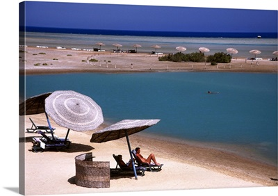 Egypt, Red Sea, El Gouna, beach