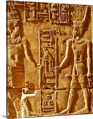 Egypt, Temple of Karnak, relief in temple