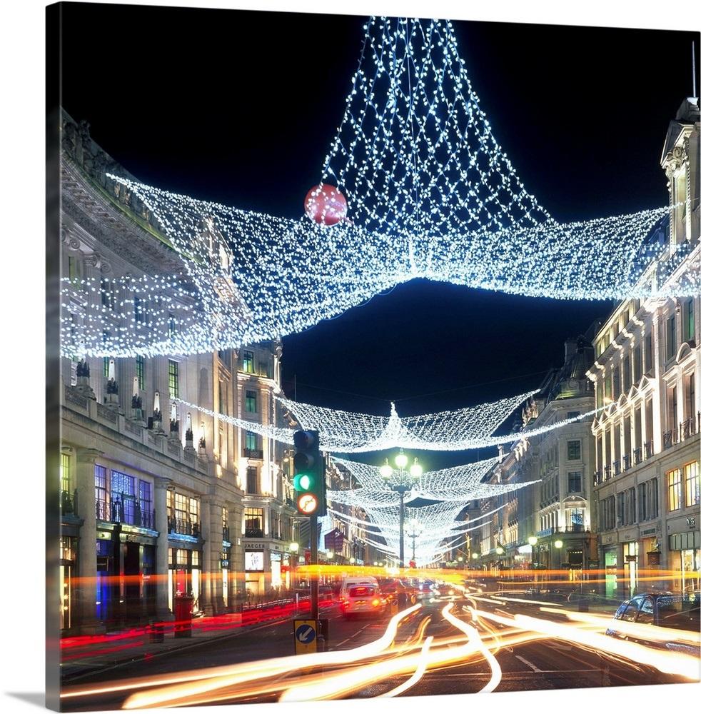 England Christmas Decorations.England London Regent Street With Christmas Decorations