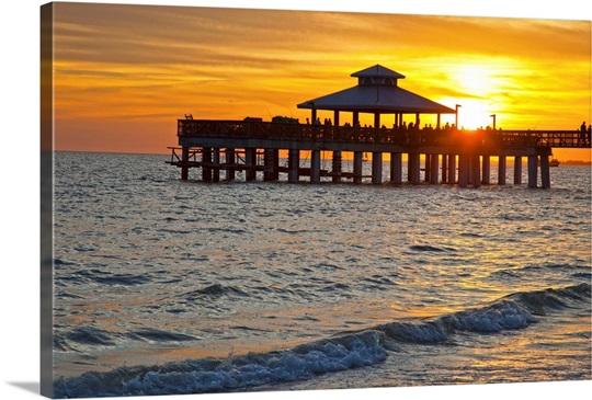 Florida Fort Myers Beach Estero Island Fishing Pier