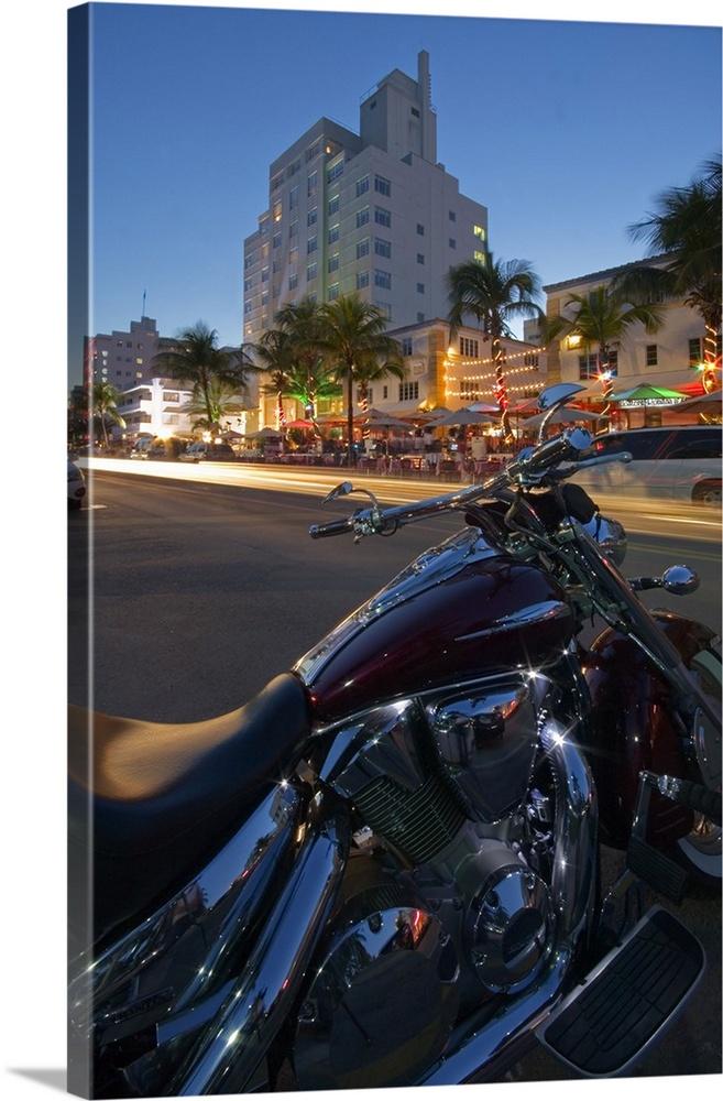 Florida, Miami, Miami Beach, Harley Davidson Along The Ocean Drive Part 76
