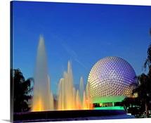 Florida, Orlando, Epcot Center by night