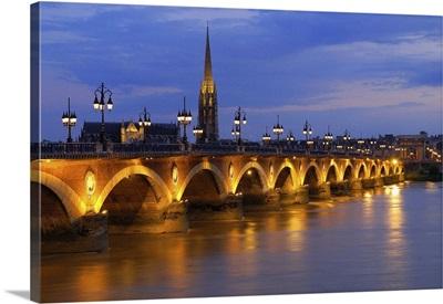 France, Aquitaine, Gironde, Bordeaux, Pont de Pierre