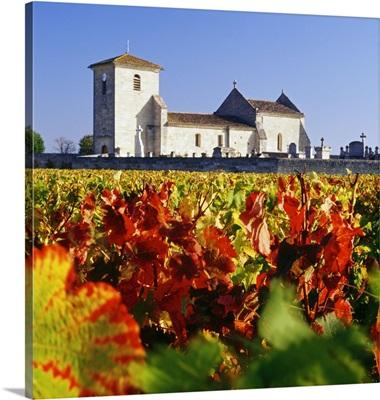 France, Aquitaine, Saint-Hippolyte, Gironde, Village near Saint-Emilion, church