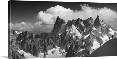 France, Chamonix, Vallee Blanche and Grand Jorasses