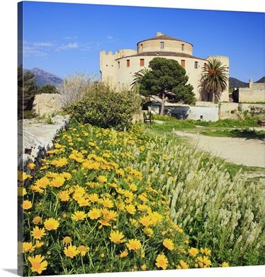 France, Corsica, Saint-Florent, Mediterranean area, La Citadelle,  in the Nebbio