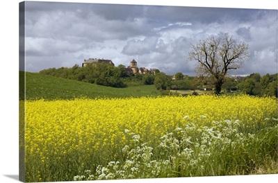 France, Limousin, Cavagnac, The hilltop village of Cavagnac
