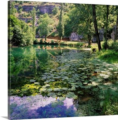 France, Midi-Pyrenees, River Ouysse