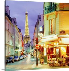 France Paris Rue Saint Dominique Street And Eiffel