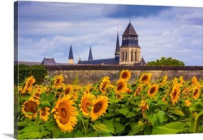 France, Pays De La Loire, Maine-Et-Loire, View Of The Church Of The Fontevraud Abbey
