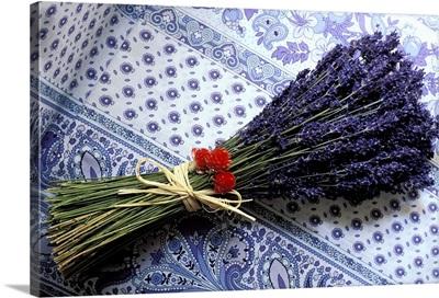 France, Provence, Plateau de Valensole, lavender bunch