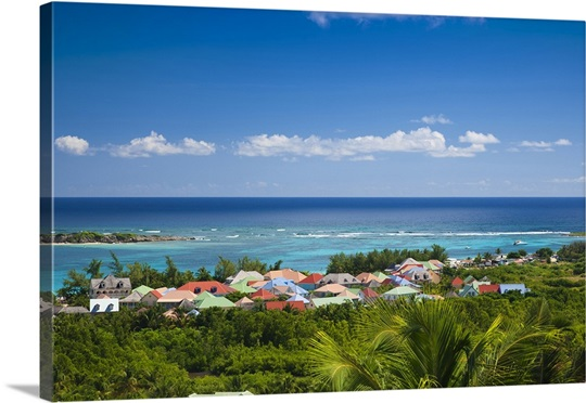 French Antilles Saint Martin Houses Along The Orient Bay