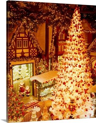 Germany, Bavaria, Franken, Kathe Wohlfahrt Christmas shop