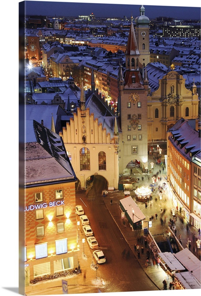 Munich Germany Christmas.Germany Bavaria Munich Marienplatz During Christmas Time