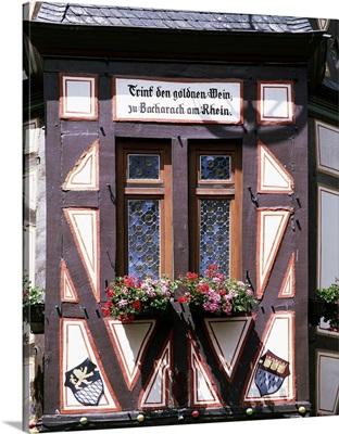 Germany, Rhineland-Palatinate, Bacharach, Rhine, A window