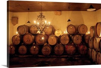 Germany Rhineland-Palatinate, Venningen, Doktorenhof wine cellar