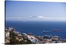 Gibraltar, Mediterranean sea, The Rock, Pillar of Hercules or Calpe
