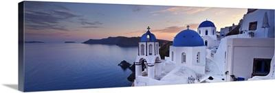 Greece, Aegean islands, Cyclades, Santorini island, Oia village, typical church