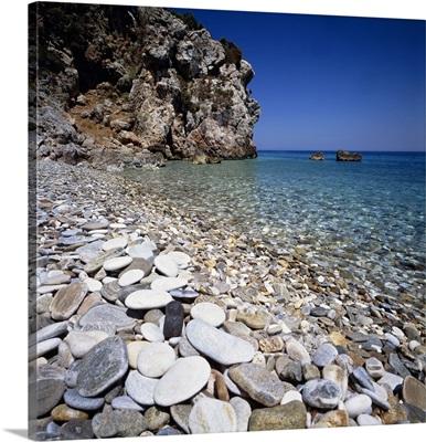 Greece, Aegean islands, Tsambou, beach