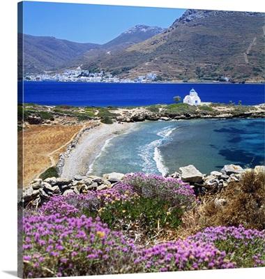 Greece, Amorgos island, Katapola bay, Agios Panteleimon church