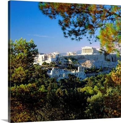 Greece, Athens, Acropolis, View of Acropolis