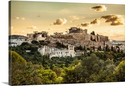 Greece, Athens, The Acropolis At Sunrise