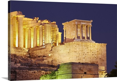 Greece, Central Greece and Euboea, Attica, Athens, Acropolis at sunset