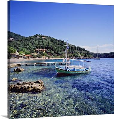 Greece, Ionian Islands, Corfu Island, Mediterranean sea, Kalamaki beach