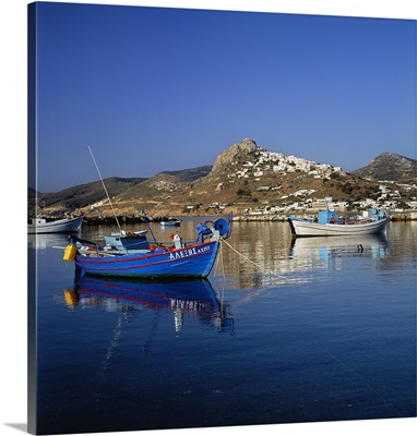 Greece, Mediterranean sea, Harbour and Chora town