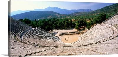 Greece, Peloponnese, Epidaurus, the theatre