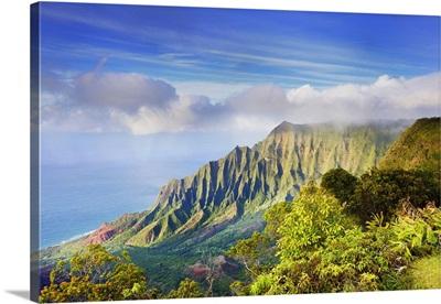 Hawaii, Tropics, Kauai island, Na Pali Coast, Kalalau Valley