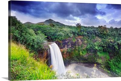 Hawaii, Tropics, Kauai island, Wailua, Wailua Falls (TV show Fantasy Island)