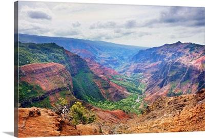 Hawaii, Tropics, Kauai island, Waimea Canyon