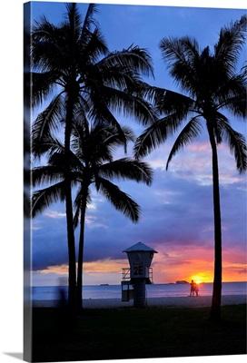 Hawaii, Tropics, Pacific ocean, Oahu island, Honolulu, Waikiki beach