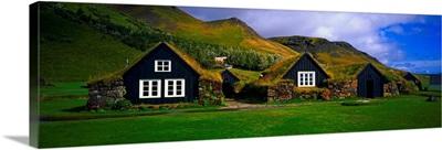 Iceland, South Iceland, Skogar, Old traditional farm