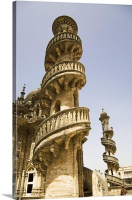India, Gujarat, Spiral staircase at the Mahabat Maqara in the city of Junagadh