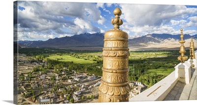 India, Ladakh, Indus River valley, view from Thikse Monastery