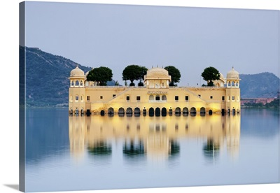 India, Rajasthan, Jaipur, Jal Mahal at Man Sager Lake